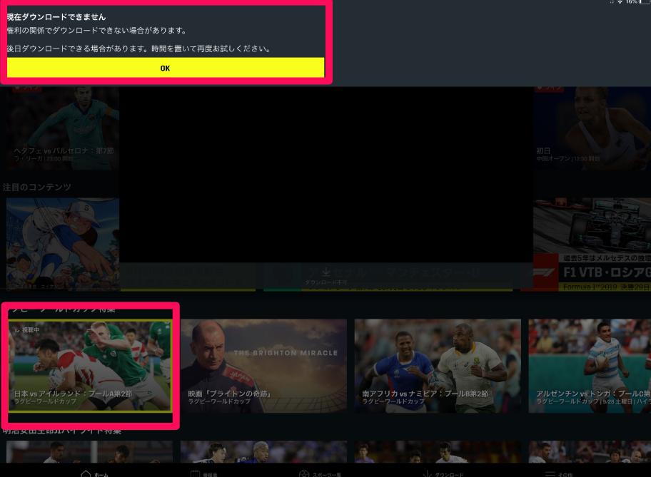 ダウンロードが出来ない動画の画像