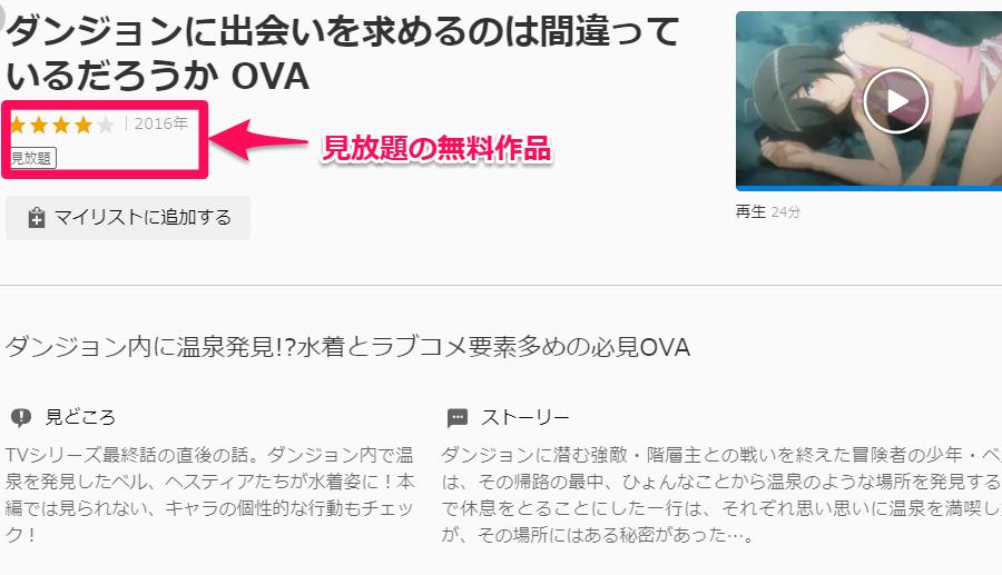 ダンジョンに出会いを求めるのは間違っているだろうか OVA無料