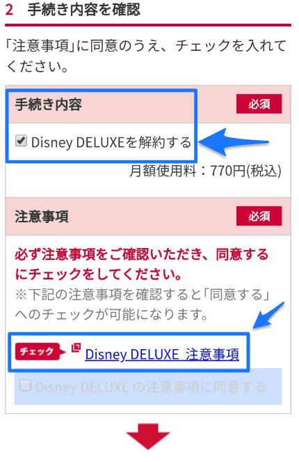 Disney DELUXEの注意事項
