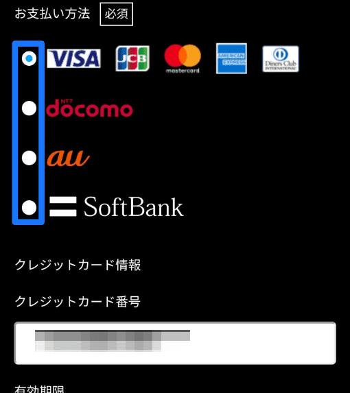 支払方法選択