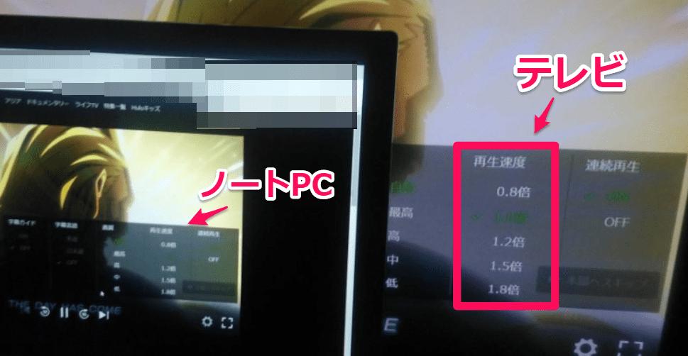 ノートPC テレビ HDMI